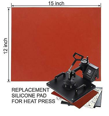 "12"" ×15"" Silicone Pad, Flat Heat Press Replacement Sublimation Mat Red"