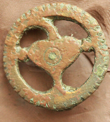Ancient Roman Bronze Fibula & Brooch d=32mm 9gr