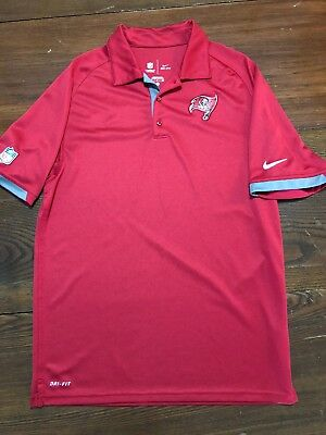 c3df76893 Nike Dri Fit NFL OnField TAMPA BAY BUCCANEERS Polo Shirt Red Men s Small EUC