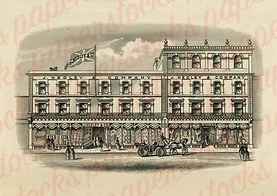 c.1850s J.HEDLEY & CO SHOPFRONT ENGLAND ANTIQUE ADVERTISING A3 PRINT