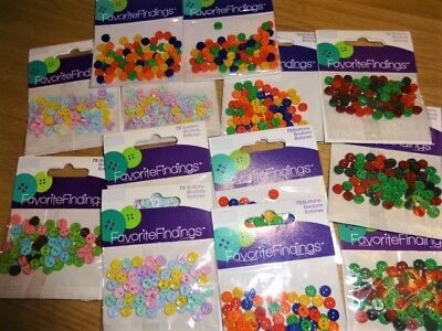 Favourite Findings Quality Tiny Doll Buttons, 5 Mm, Assorted Colours 75 Pieces