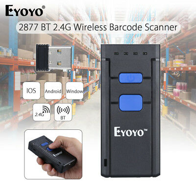 MJ2877 Wireless Bluetooth Laser Barcode Scanner for Apple IOS Android Windows
