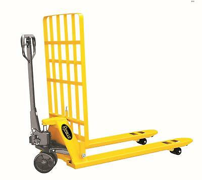 "ApolloLift Manual Pallet Jack Truck With Box Guard 5500lbs Capacity 48""L×27""W Fo"