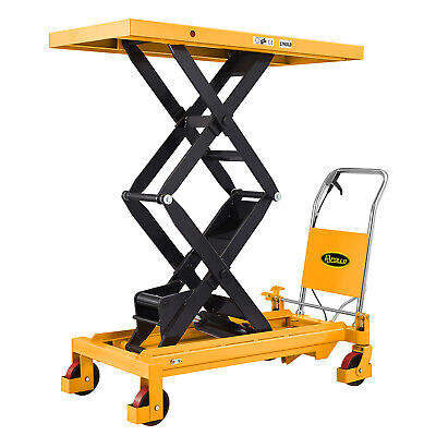 """ApolloLift Manual Double Scissor Lift Table   1760lbs   59.1"""" lifting height   W"""
