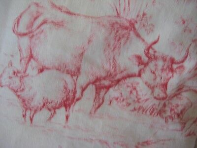 Antique French Toile cushion cover