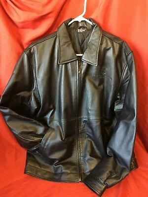 Black Nappa Leather Caesars Palace Las Vegas Jacket w quilted lining-Men s  XL dc7dee22aa638
