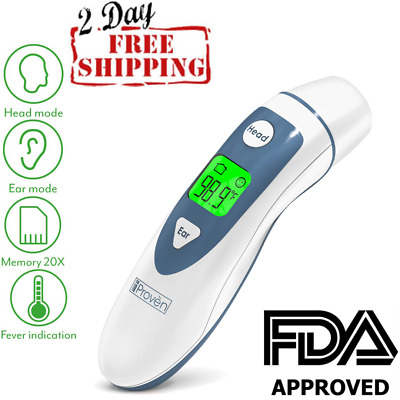 Ear Thermometer with Forehead Function, FDA Approved for Baby and Adults - [New]