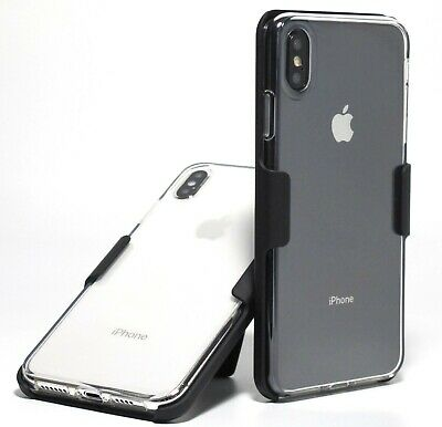 Apple iPhone XS Max SLIM CRYSTAL CLEAR TPU GEL CASE with BELT CLIP HOLSTER