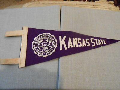 Vintage 1940s Kansas State College of Agriculture K-State Miniature Felt Pennant