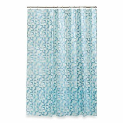 Maytex Peva Stained Glass 70 Inch X 72 Shower Curtain In Blue