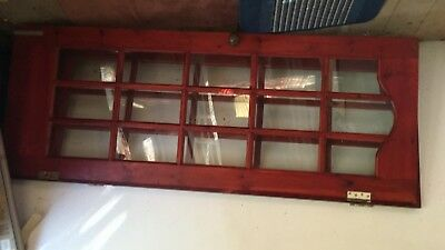 Pair of mahogany painted glass  panelled doors