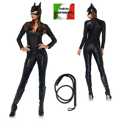 Cat Woman Donna Vestito Carnevale Maschera Cat Woman Cosplay Costume CATWOM2