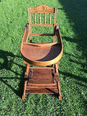 Antique Child's Metamorphic High Chair.