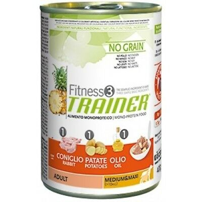 Trainer Fitness 3 - Adult Medium e Maxi con Coniglio Patate e Olio da 400 gr 12