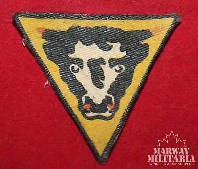 British / Canadian PRINTED Flash, 79th Armoured Division (inv 14832)