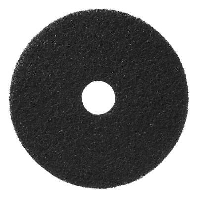 HP 500 Heavy Duty Hard Floor Stripping Pad Black 16 Inch, 5 Count Box Americo