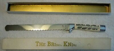 "Vintage Three Captains Germany Bride's Carving Knife Mint in Box 8 1/2"" Blade"