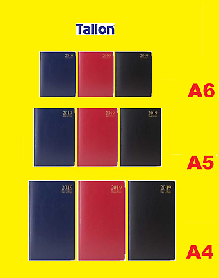 2019 Planner Diary - Day Per Page/ Week Per Page- Blue Black Red - A4 A5 A6 2019