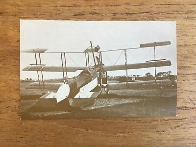 Vintage Ww1 Modified Avro 504 Real Photo Military Post Card
