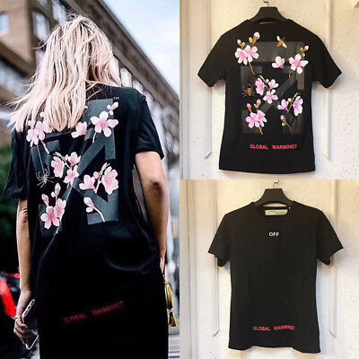🇦🇺 AU STOCK Off white tee shirt street wear cherry flower T shirts top Unisex