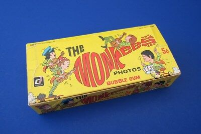 1967 DONRUSS THE MONKEES PHOTOS BUBBLE GUM 2nd SERIES 5-CENT DISPLAY BOX