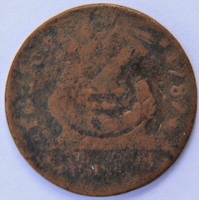 1787 FUGIO CENT, UNITED STATES, POINTED RAYS, Newman 8-B (N8-B), R3, G-VG