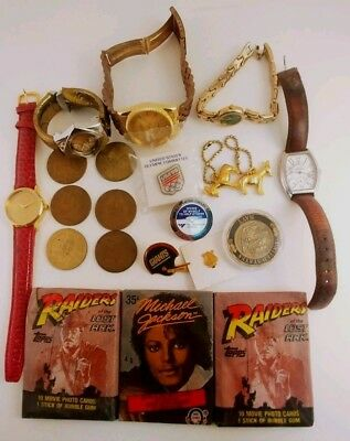Vintage Junk Drawer - Wax Packs, Presidential Tokens, Watches, Pin, & More!