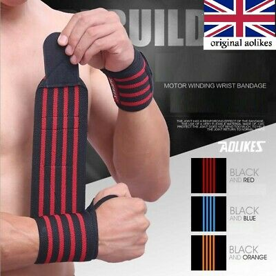 FDS Wrist Wraps Weight Lifting Training Gym Straps Support Grip Gloves