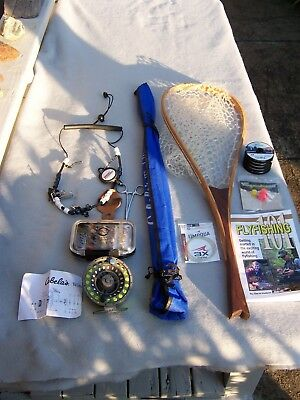 Complete Beginners Fly Fishing Outfit With Cabela's Rod Reel Line Plus Great Acc