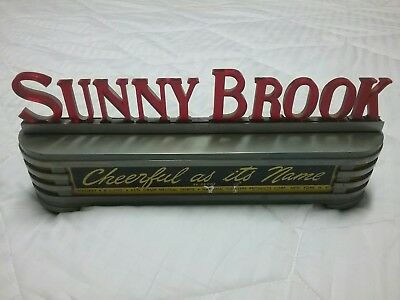 """Sunny Brook Brand Whiskey Sign """"Cheerful as its Name"""""""