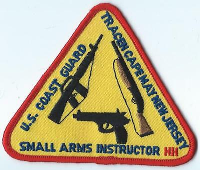U.s. Coast Guard Tracen Cape May New Jersey Small Arms Instructor Patch