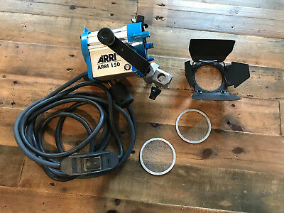 """ARRI 150 Tungsten Light with 2"""" Fresnel w/Barn Doors and Screens"""