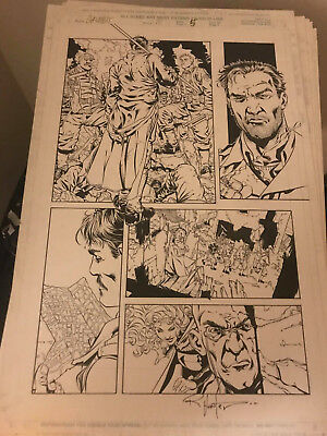 Gambit #10 (1999) Page 5 Signed By Rob Hunter - Original Art