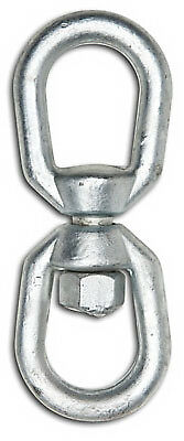 "APEX TOOLS GROUP LLC 3/8"" Eye To Eye Swivel, Forged, Galvanized, WLL 2,250 LB."