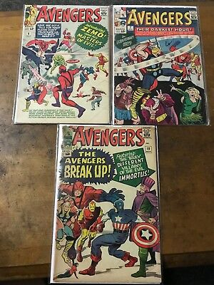 Silver Age marvel lot Avengers 6, 7, 10 multiple grades Captain America Thor