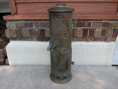 Antique Vintage Cast Iron Lion Brand Pittsburgh Company Water Heater Steampunk
