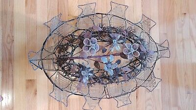 Unusual VICTORIAN BEADED WALL PICTURE ART 1800's Antique Hand Made Wire Work