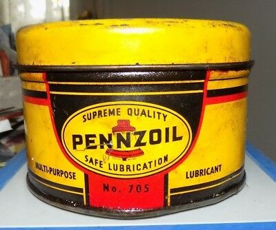 Vintage Pennzoil Multi Lubricant Can Partially Full #705 See Pic
