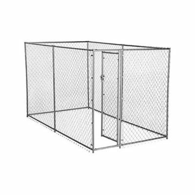 Lucky Dog 2-in-1 Size Galvanized Chain Link Kennel - CL 61028EZ, Beige