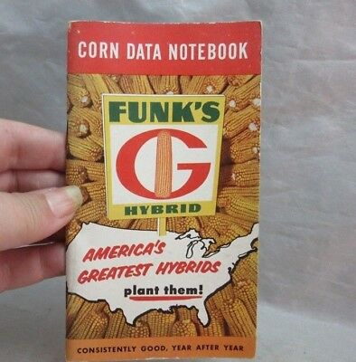 1957 Funk's Hybrid Corn Data Notebook. AG-Lab advertising. Columbus, OH