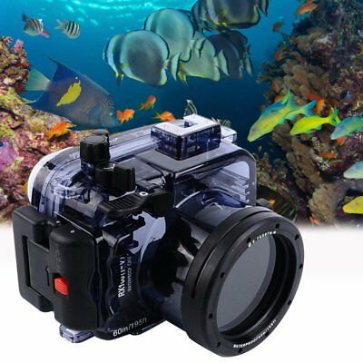 Seafrogs 60m/195ft Underwater Diving Housing Case for Sony DSC-RX100 M2 M3 M4 M5