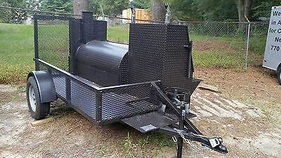 Pit Master Pro Mobile BBQ Catering Business Smoker Grill Trailer Food Cart Truck