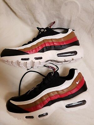 new mens NIKE AIR MAX 95 Pull Tab TT PRM Black Sail Brown AJ4077 sz 9 RARE