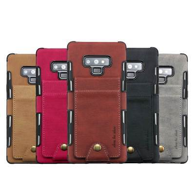 For Samsung Galaxy Note 9/8 S9 Plus Leather Wallet Card Credit Phone Case Cover