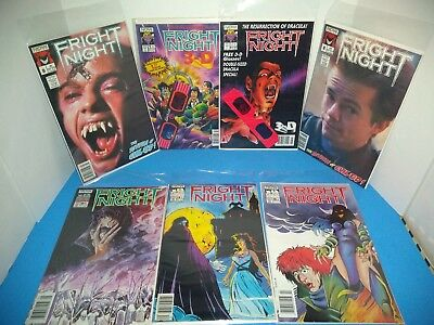 Now Comics Fright Night Rare 3D Glasses 1989 #'s 1,8,9,14,16,19 & Fall 1992