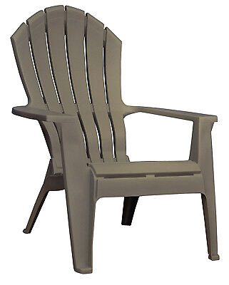 ADAMS MFG CO RealComfort Adirondack Chair, Ergonomic, Resin, Portobello