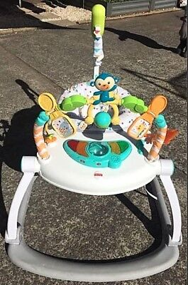 Fisher Price Colourful Carnival Space Saver Jumperoo EUC