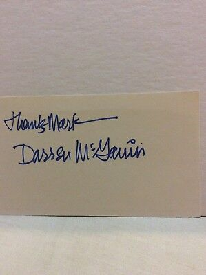 """Darren McGavin Signed Card """"A Christmas Story"""" Father Actor"""