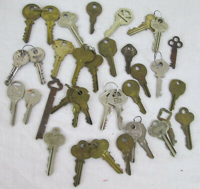 Vintage Antique Key LOT of 38 Crafts Decor Steampunk Projects DIY Metal