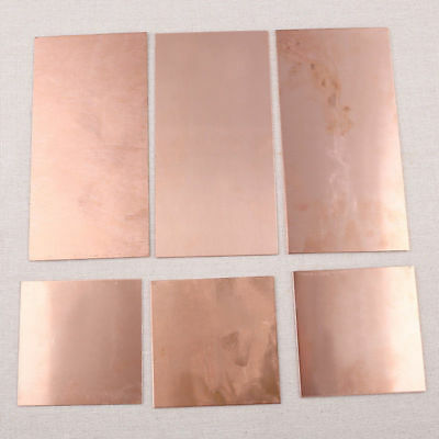 99.9% Pure Copper Cu Metal Sheet Plate Foil Panel  for Industry Craft 1pc